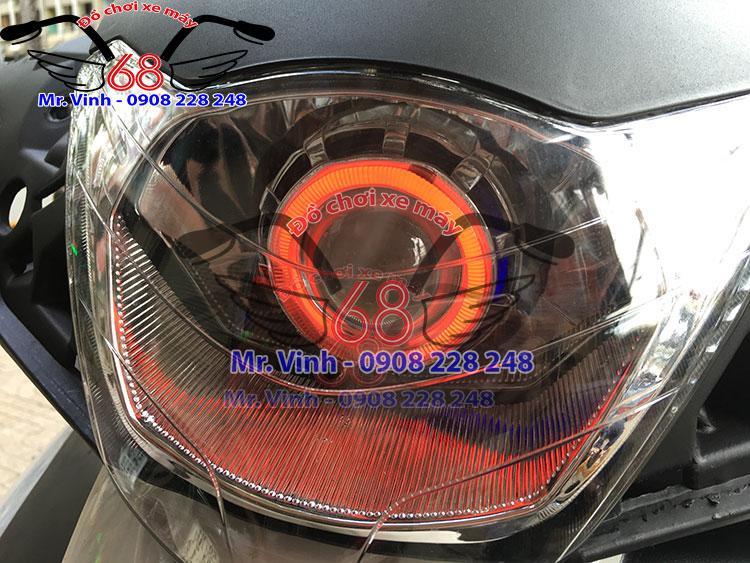 Đèn gương cầu led cho xe máy