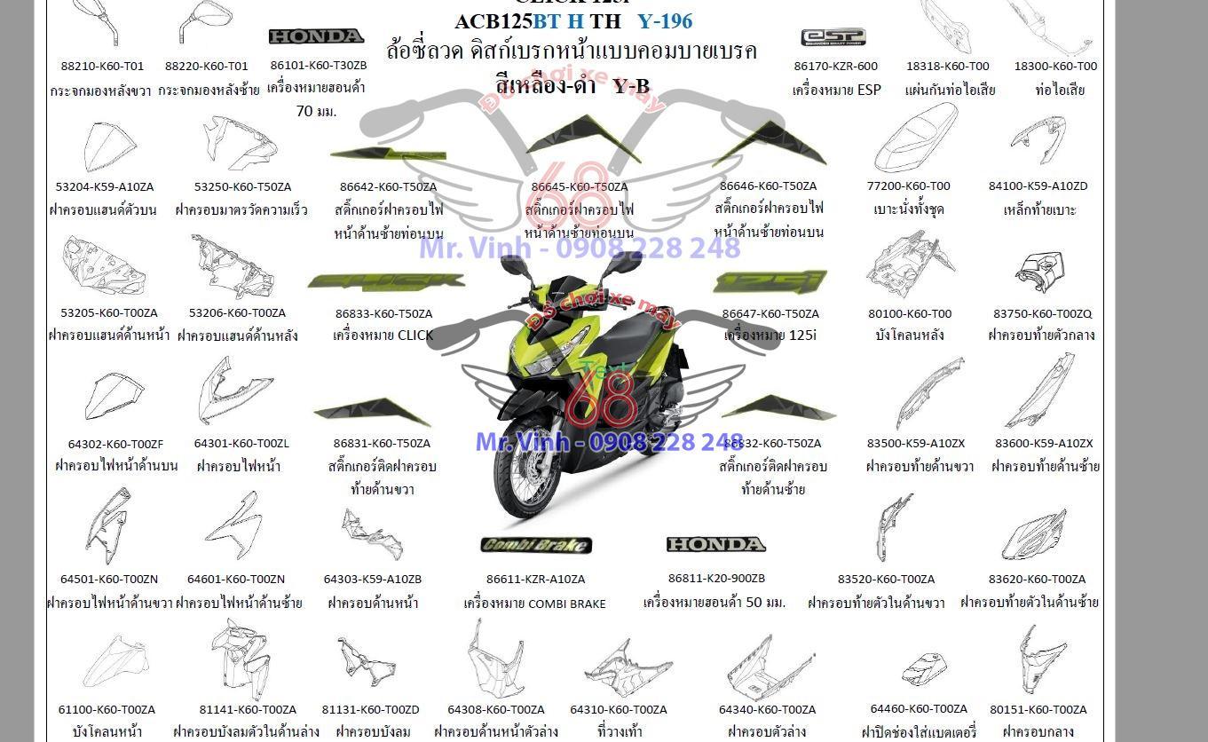 Phụ tùng zin xe Vario 150i Click Thái 125i