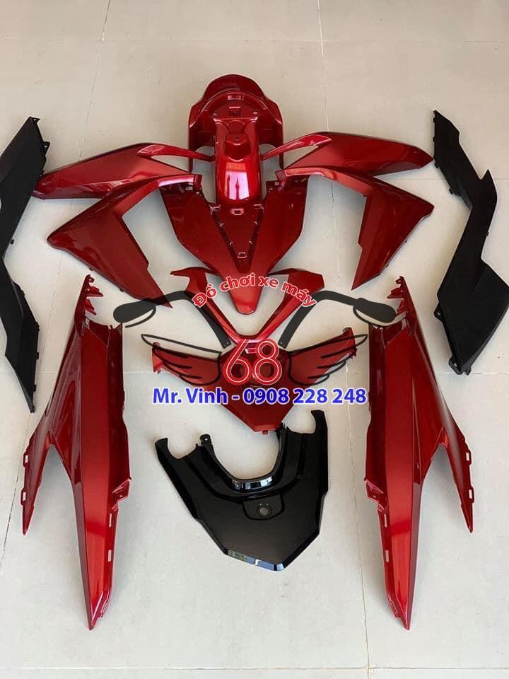 full áo màu đỏ xe Vario