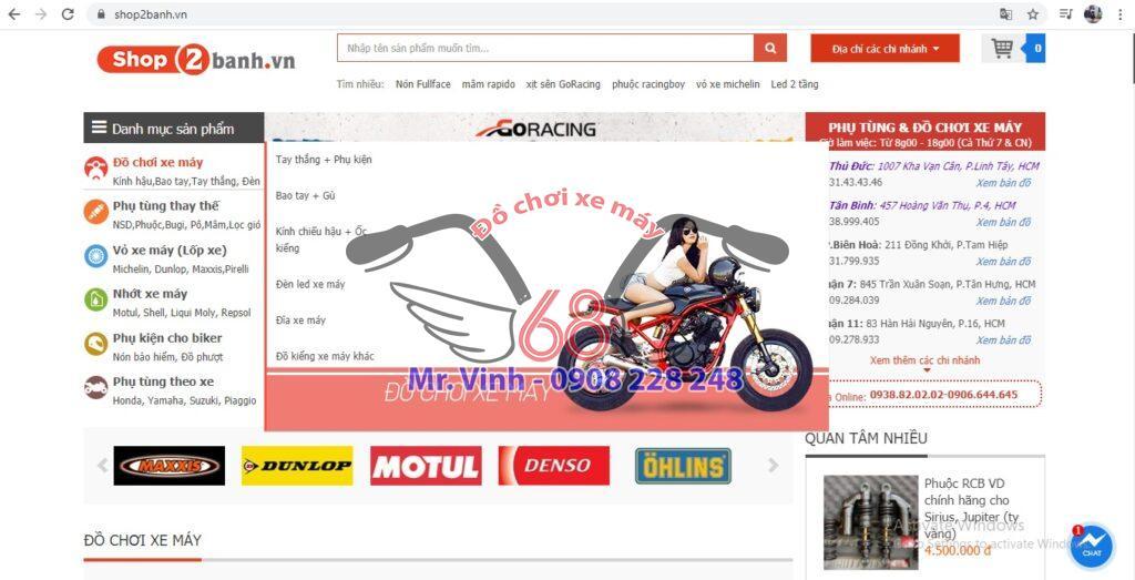 Shop2banh là địa chỉ uy tín để mua đồ chơi xe máy giáẻ