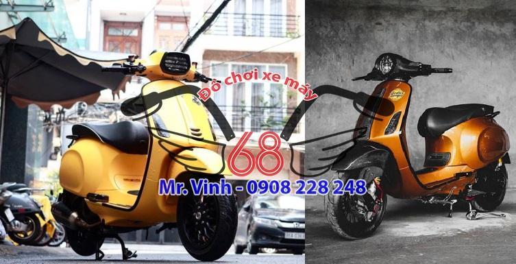 thay mới đồ chơi xe ga Vespa tại shop đồ chơi xe máy 68 , thành phố HCM