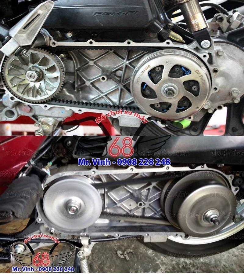 Phụ tùng đồ chơi xe máy: độ nồi xe tay ga