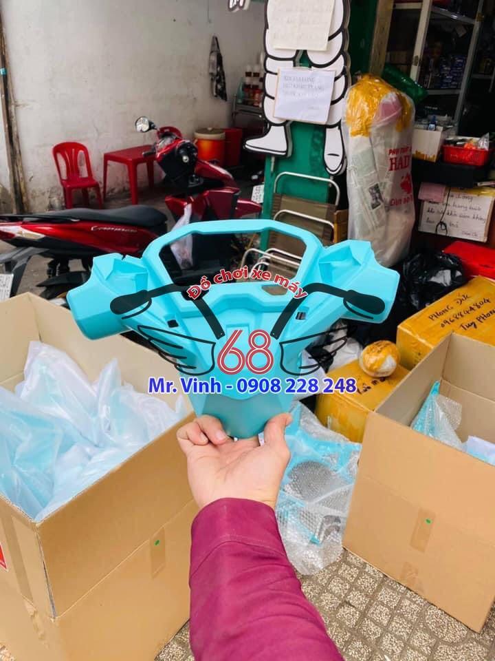 dàn nhựa nhám cho xe vario màu xanh